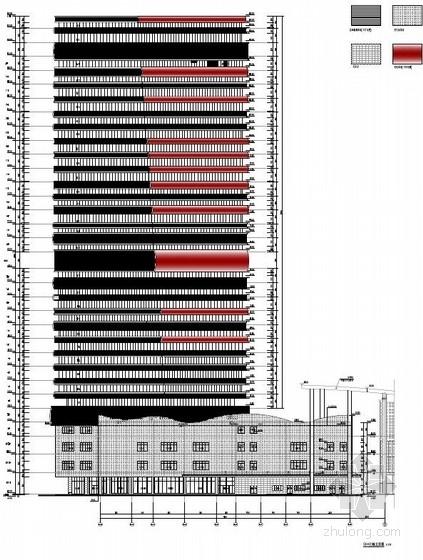 [武汉]超高层百米框架结构办公及会议中心建筑设计方案文本