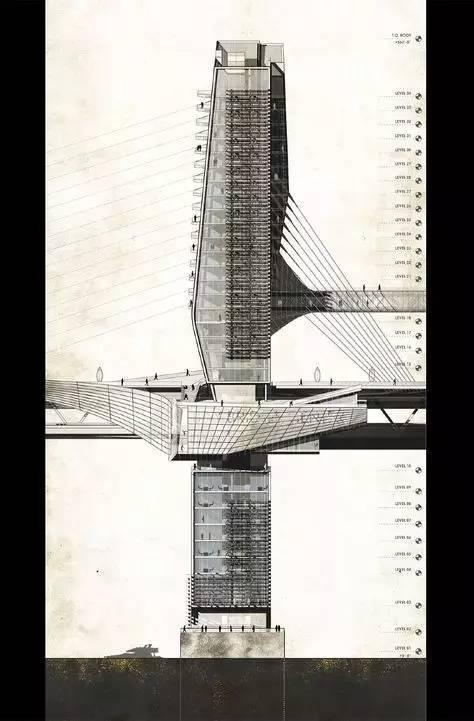 那些霸气的建筑剖面图_9