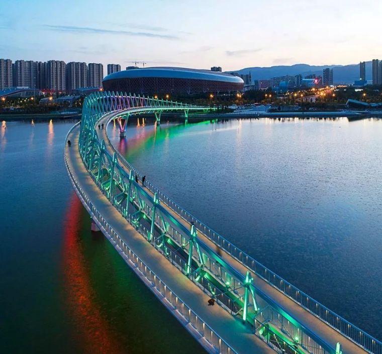 """太原""""汾河之冠""""人行景观桥,尽展结构技艺之美!_8"""