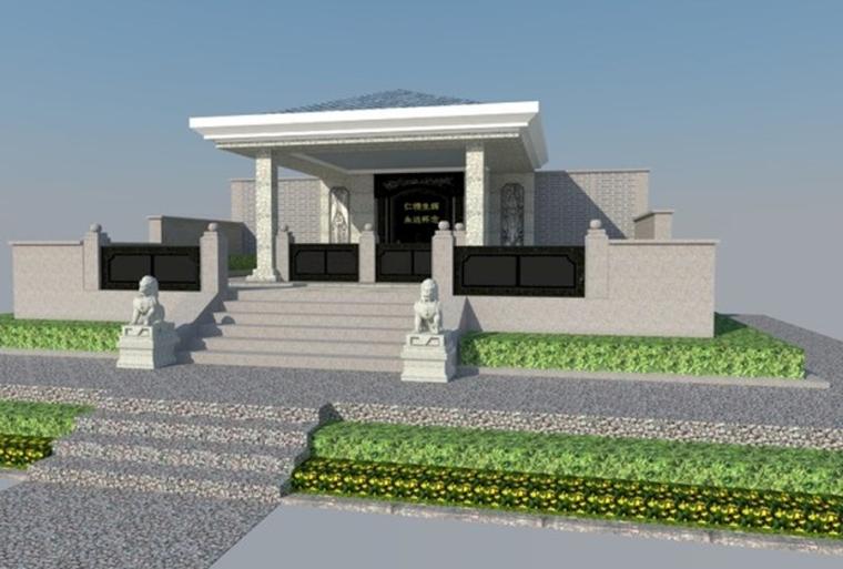 (原创)墓地设计案例效果图图片