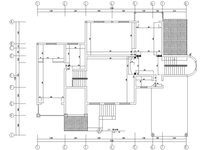 [湖南]某二层欧式风格别墅室内设计施工图及效果图