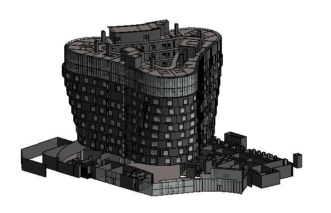 BIM模型-revit模型-11层建筑模型