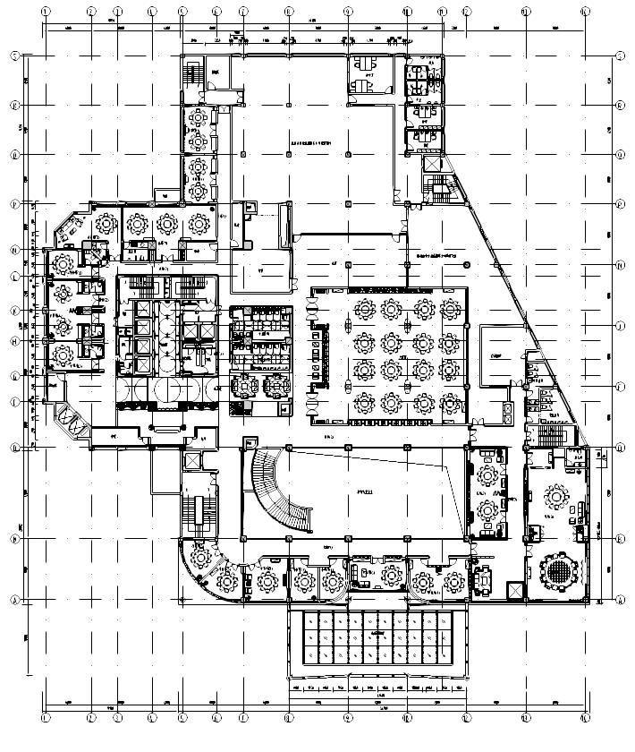 浙江某五星级酒店二层餐厅施工图