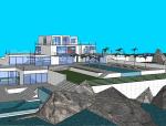 海岛别墅SU建筑模型