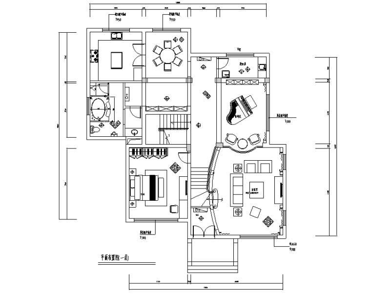 美式古典风格500平米独栋别墅设计施工图(附效果图)