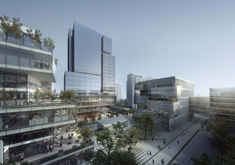 [上海]上海青浦徐盈路上盖综合楼建筑模型设计