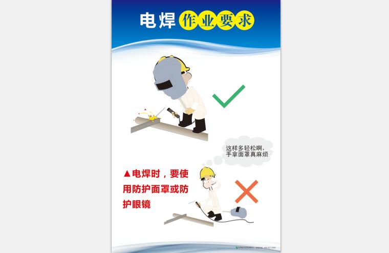 [安全月]电焊作业要求高清挂图