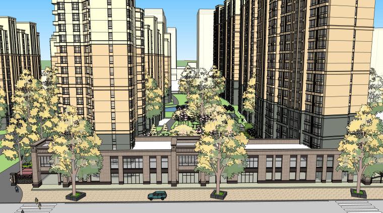 欧式小区建筑模型方案_2