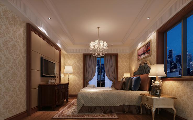 欧式风格别墅设计CAD施工图(含效果图)效果图