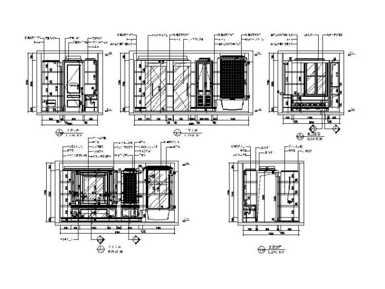 【江苏】两套样板房设计CAD施工图(含效果图)_5