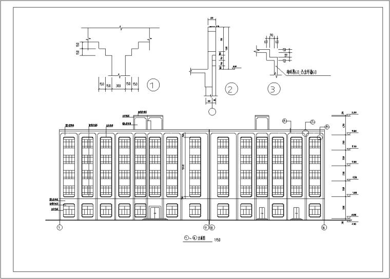 5套现代多层宾馆酒店建筑设计施工图CAD
