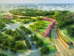 [安徽]生态人文气息流线型山体高差森林公园景观设计方案
