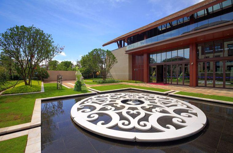 海蓝园筑展示区周围景观