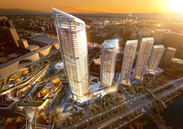 [深圳]超高层商业性办公建筑设计方案文本(含CAD图纸)