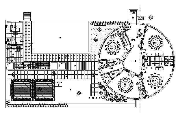 [南通]中式豪华酒店餐饮空间设计施工图(含效果图)