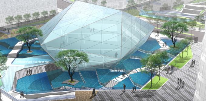 [上海]抗震型高端低碳商业景观设计方案