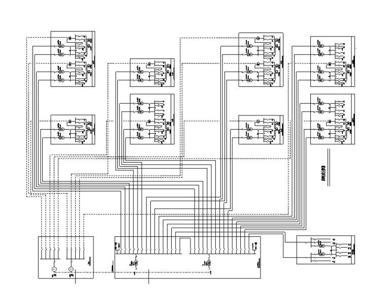 34万平商业办公楼强弱电电气施工图(电缆|变配电所负荷|防雷计算)-供配电系统主接线图