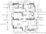 某中式风格三居室住宅室内设计施工图(含效果图)