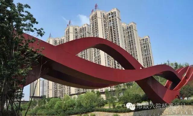 """长沙梅溪湖""""中国结""""步行桥_4"""