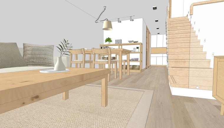 2套现代北欧风格复式公寓室内设计模型