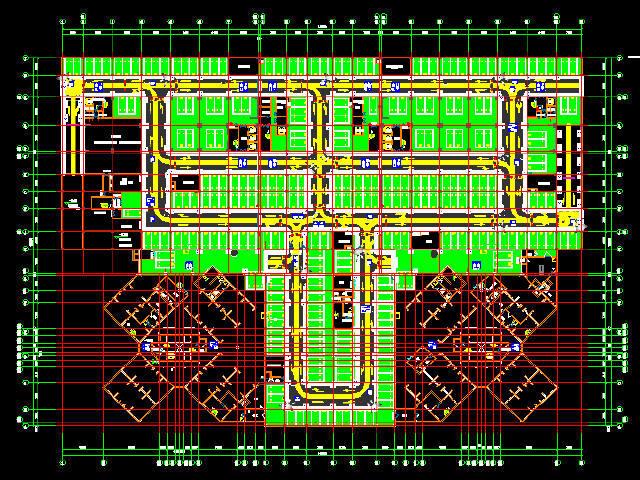 地下车库交通标志标线设计图19张CAD