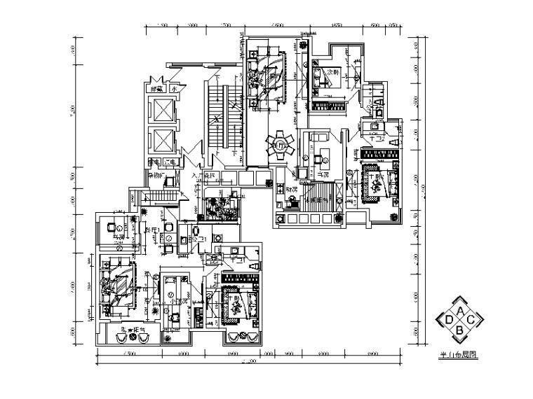 [湖南]现代风格样板房设计CAD施工图(含效果图)