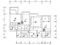 【四川】北欧现代三居室样板房空间设计施工图(附效果图)