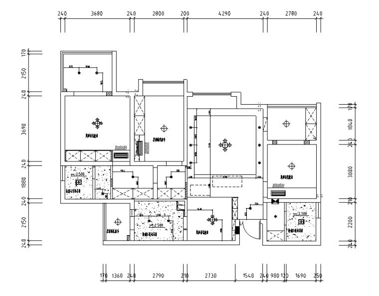 [四川]北欧现代三居室样板房空间设计施工图(附效果图)
