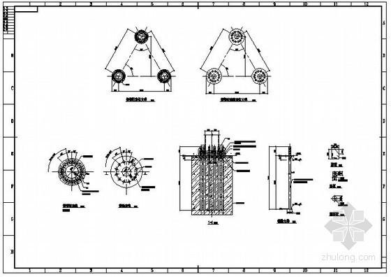 某广告牌钢管柱脚节点构造详图