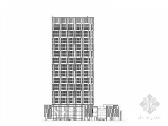 [上海]135米玻璃幕墙办公建筑设计施工图(含详细节点图)