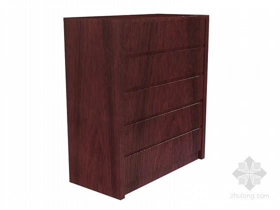 中式简洁装饰柜3D模型下载