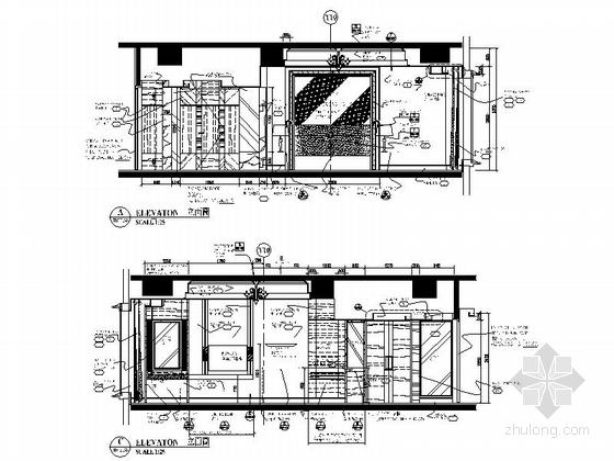 [广东]全球连锁尊贵五星级国际豪华酒店设计装修施工图套房立面图
