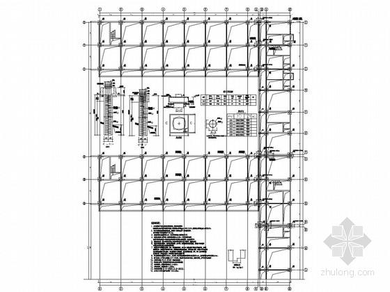[贵州]六层框架结构学生宿舍结构施工图