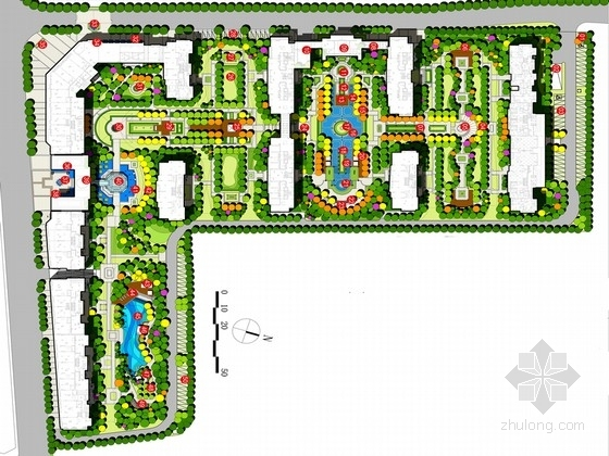 [杭州]豪华高端的新古典主义主题风格居住区景观规划设计方案