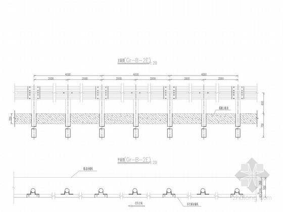 [重庆]城市支路波形梁护栏设计图