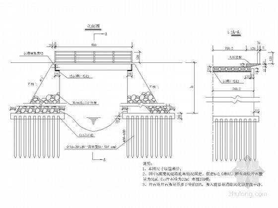 农用1-8m空心板小桥全套施工图(5张)
