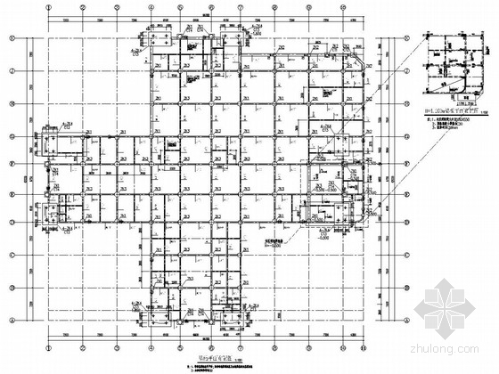 [重庆]七层框架剪力墙结构儿童中心医院结构图(含计算书)