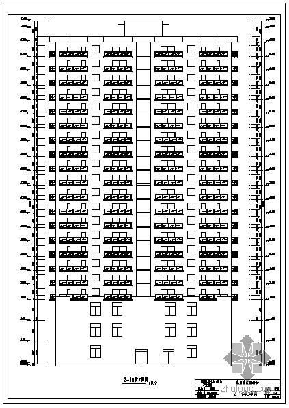[学士]某高层商住楼毕业设计图纸(含电算计算书)