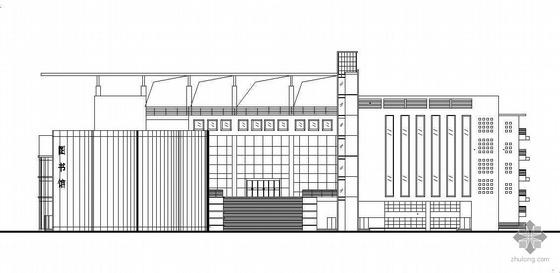 广州某高校六层图书馆建筑设计方案(含效果图)