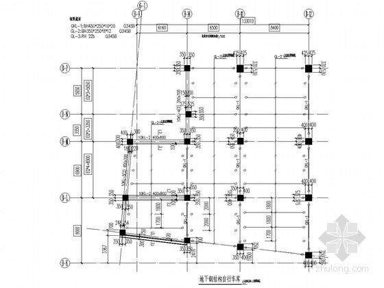 地下夹层钢结构自行车车库翻样深化图纸