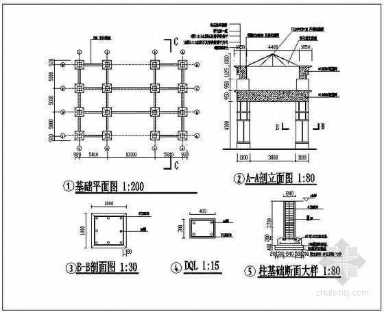 某住宅小区大门结构设计图