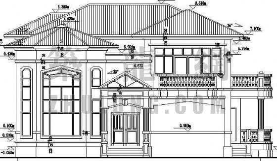某欧式豪华别墅建筑设计方案