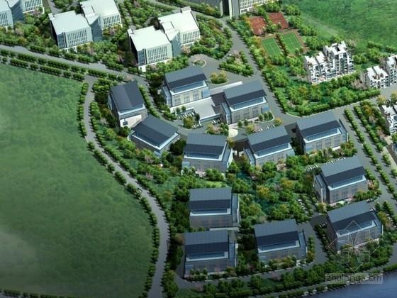 [东莞]某科技产业园区规划及单体设计方案文本(含CAD)
