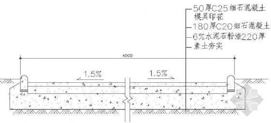 园路铺装剖面详图(1)