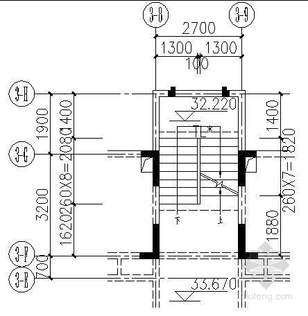 高层住宅楼楼梯节点构造详图
