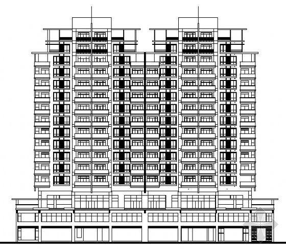 某十四层底商住宅楼建筑施工图