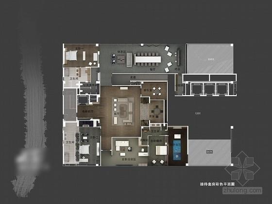 [无锡]独具特色新中式四居室装修设计方案图