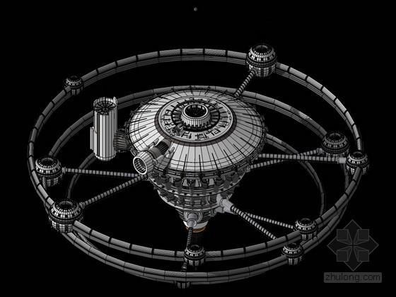 未来科技城市SketchUp模型下载
