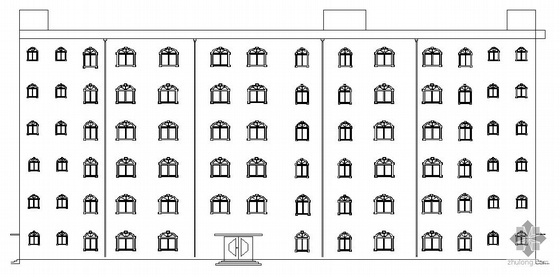 [毕业设计]中国银行郑州市分行综合办公楼建筑施工图(带开题报告和任务书)