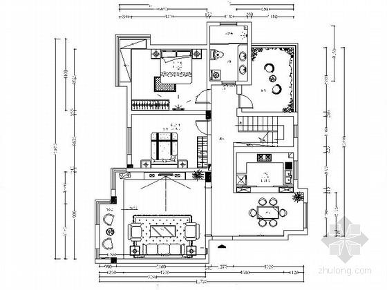 [福建]新古典风格双层洋房装修设计图(含效果)